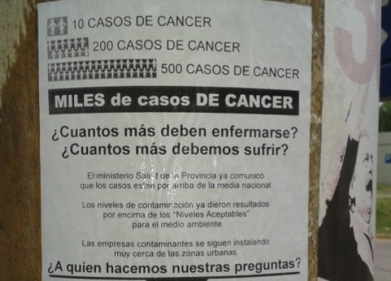 cancer contaminacion rosario